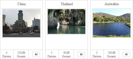 Bildergalerie mit Anzeige aller Bilder eines Verzeichnisses